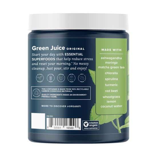 Organifi Green Juice back