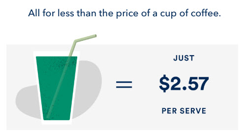 price Less than coffee