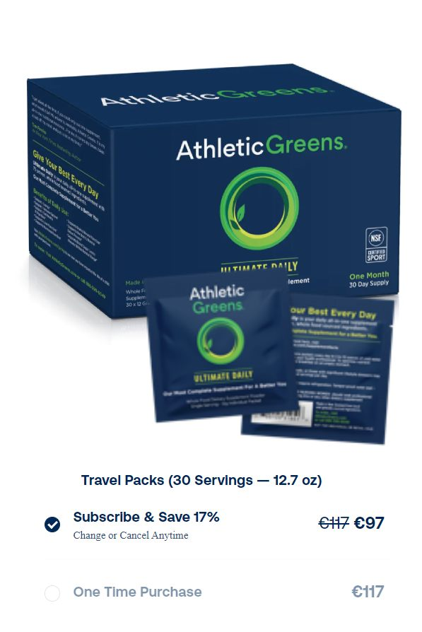 Athletic Greeens Travel Packs