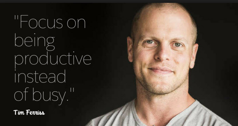 Tim Ferriss - best selling author